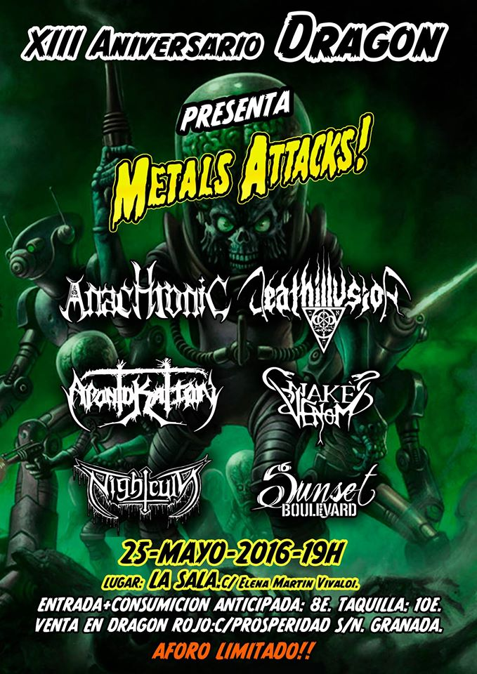Metal Attacks! – Granada – 25/05/16