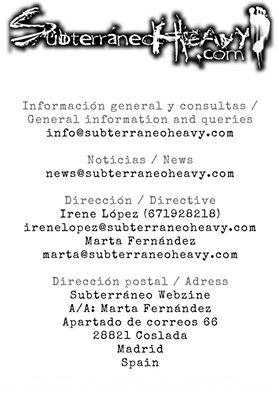 Subterráneo Webzine: línea editorial