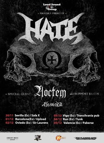 HATE (POL) + NOCTEM + ATROXENTIS (BEL) + ALESSA'S CRY – Sevilla – 30/11/2016