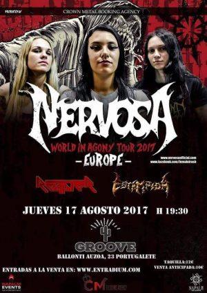 NERVOSA + REAPTER + ESTAMPIDA