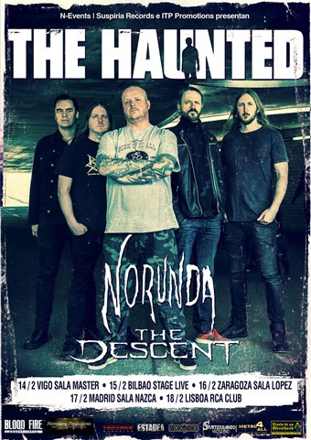 THE HAUNTED + NORUNDA + THE DESCENT (BILBAO)