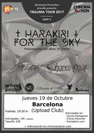 HARAKIRI FOR THE SKY + SHORES OF NULL + PERENNIAL ISOLATION  (BARCELONA)