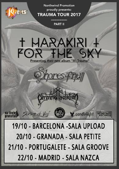 HARAKIRI FOR THE SKY + SHORES OF NULL + PERENNIAL ISOLATION  (PORTUGALETE)