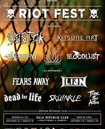 RIOT FEST DÍA 1: BLOODLUST + HAIR AS A CROWN + EXODIUM + KITSUNE ART + BOSTOK – MADRID, 22/09/17