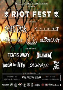 RIOT FEST DÍA 1: BLOODLUST + HAIR AS A CROWN + EXODIUM + KITSUNE ART + BOSTOK