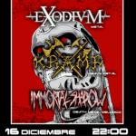 EXODIUM + IMMORTAL SHADOW + KRAMP – Madrid, 16/12/17