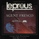 LEPROUS (NOR) + AGENT FRESCO (ISL) + ALITHIA (AUS) + ASTROSAUR (NOR) – Madrid – 09/11/17