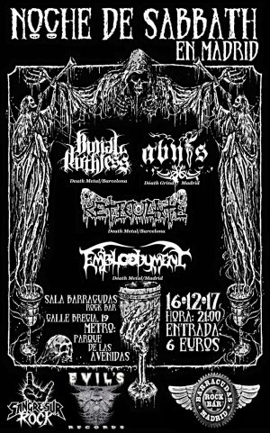 BURIAL RUTHLESS + RETICULATE + EMBLODYMENT + ABIFS