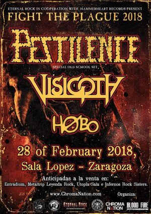 PESTILENCE+ VISIGOTH + HØBO (ZARAGOZA)