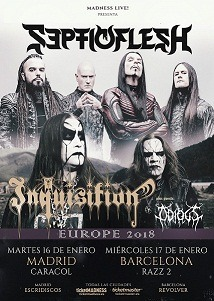 SEPTICFLESH + INQUISITION + ODIOUS
