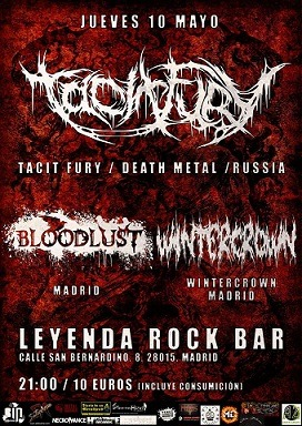 TACIT FURY (RUS) + BLOODLUST + WINTERCROWN
