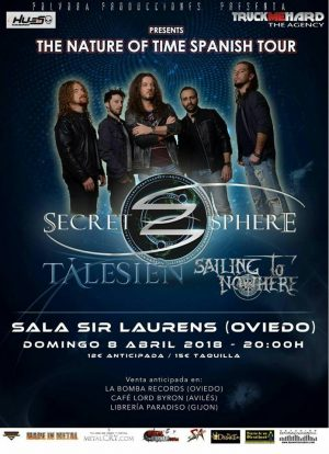 SECRET SPHERE +TÁLESIEN + SAILING TO NOWHERE