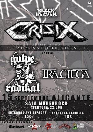 CRISIX  + IRA CIEGA + GOLPE RADIKAL