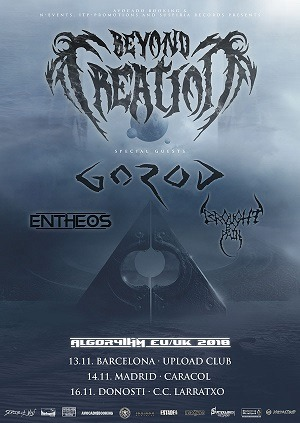 BEYOND CREATION (CA) + GOROD (FR) + ENTHEOS (CA)  + BROUGHT BY PAIN (CA)