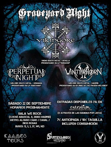 Graveyard night: VIKINGORE + PERPETUAL NIGHT + WINTERHORN