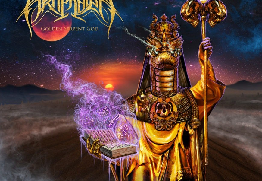 AKHENATEN (USA) – Golden serpent God, 2018