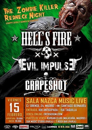 HELL´S FIRE + EVIL IMPULSE + GRAPESHOT