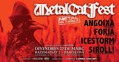 Metal Cat Fest: ANGOIXA + FORJA + ICESTORM + SIROLL!