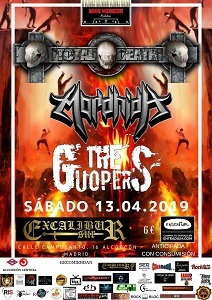 TOTAL DEATH + MORDHIDA + THE GUOPERS