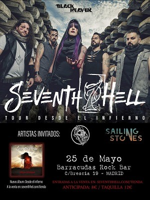SEVENTH HELL + SAILING STONES + SACRED WOLVES