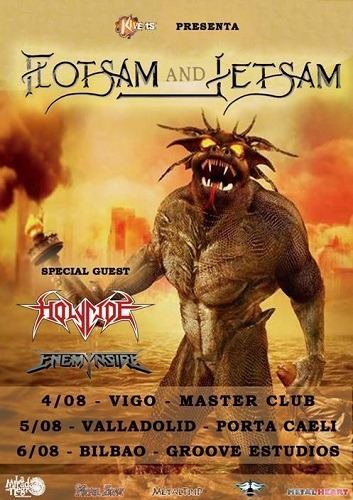 FLOTSAM AND JETSAM + HOLYCIDE + ENEMYNSIDE