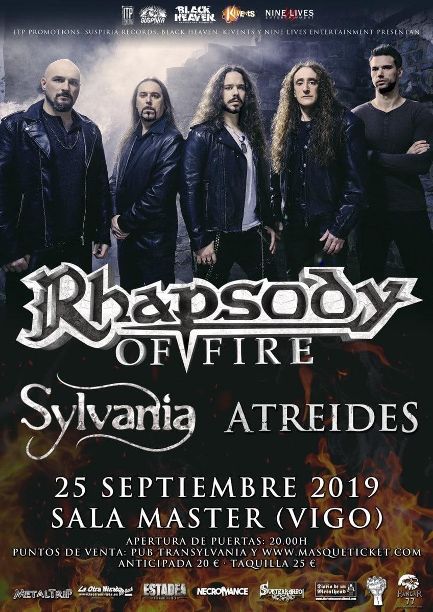RHAPSODY OF FIRE + SYLVANIA + ATREIDES