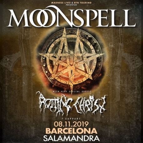 MOONSPELL (PRT) + ROTTING CHRIST (GRC) + SILVER DUST (CHE) – Barcelona – 08/11/19