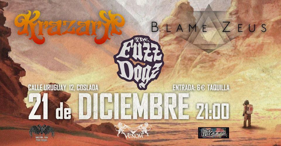 KRAZARK + BLAME ZEUS + THE FUZ DOGZ