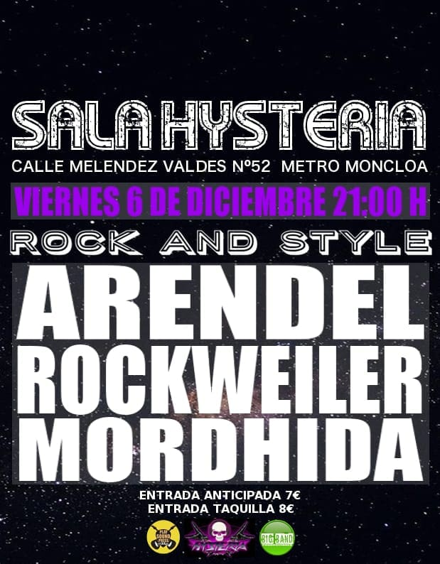 MORDHIDA  + ROCKWEILER + ARENDEL
