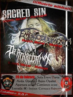 SACRED SIN + EMBLOODYMENT + DEATH AT DAWN