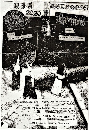 Vía dolorosa tour: KRINGA + BALMOG + TÖTENWOLF