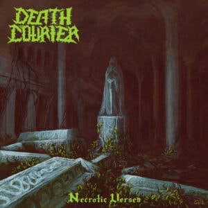 "Portada del álbum ""Necrotic Verses"" de Death Courier."