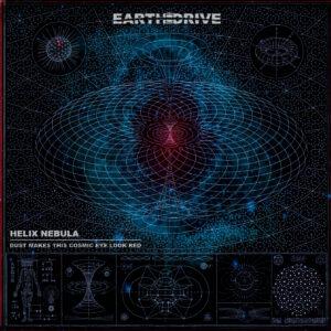 """Portada del álbum """"Helix Nebula"""" de Earth Drive."""