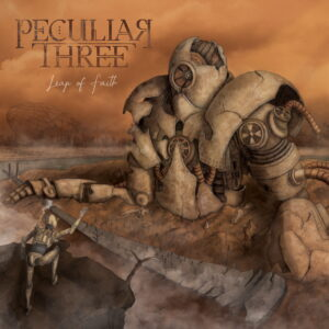 "Portada del álbum ""Leap of Faith"" de Peculiar Three."